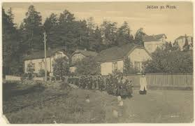Orkerød barnehjem, spasertur (postkort) - Mossebibliotekene / DigitaltMuseum