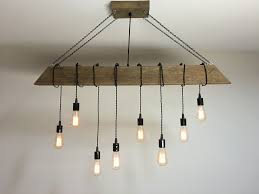 industrial lighting for the home. Reclaimed Barn Timber Beam Light Fixture With Hanging Edison Bulbs Rustic  Modern Industrial Lighting For Bar Industrial Lighting The Home