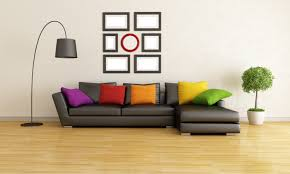 interior stylish design large living room modern couch cushion