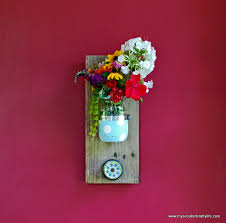 diy mason jar reclaimed wood wall