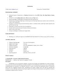 Database Developer Resume Template Unique Hadoop Developer Resume Srilatha 448 448 Templates 48 Download Com 48