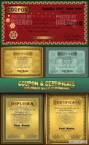 Золотые сертификаты и дипломы в векторе certificate and diploma  Золотые сертификаты и дипломы в векторе certificate and diploma vector