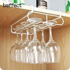 wine glasses holders stainless steel goblet rack kitchen bar wall hanging champagne glass with storage wooden