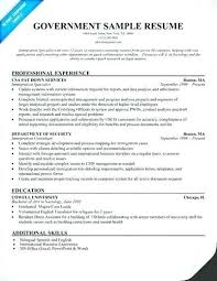 Resume For A Government Job Best of How To Write A Resume For A Government Job Government Resume