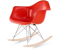 eames® molded fiberglass armchair with rocker base  hivemoderncom