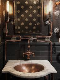 Inspiration for an eclectic powder room remodel in San Francisco with an  undermount sink