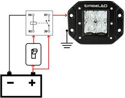 how to wire a relay for off road led lights extreme led light bars How To Wire Driving Lights Using A Relay image of a relay how to wire driving lights with a relay