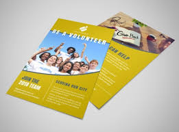 Be A Volunteer Church Flyer Template | Mycreativeshop