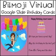 Let's roam virtual birthday parties. Bitmoji Virtual Birthday Card Templates Editable Google Slides
