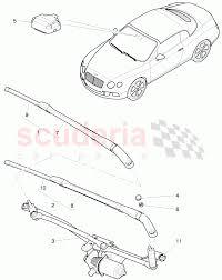 Wiper motor wiper arm with wiper blade
