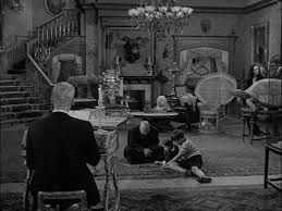 it looked a lot creepier in black and white addams family set