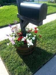 mailbox landscaping with culvert.  Culvert Flowers  With Mailbox Landscaping Culvert