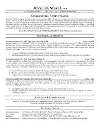 Example Systems Administrator Resume Sample