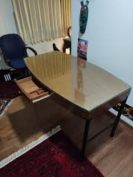 Image Shelves Carousell Solid Wood Office Desk Table With Removable Glass Furniture