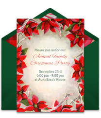 Christmas Invitation Card Christmas Online Invitations Punchbowl