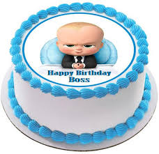 The Boss Baby Edible Cake Topper Or Cupcake Toppers Edible Prints