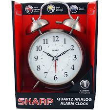 sharp twinbell quartz og alarm clock vintage twinbell desk watch