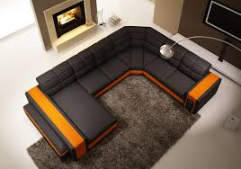 U Shaped Couch Living Room Furniture Contemporary Living Rooms With Sectional Sofas Pictures Sloped