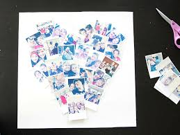diy heart photo collage diy heart shaped photo collage for instagram polaroid photos