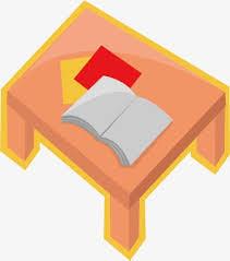 vector placed a small table books table book cartoon png and vector