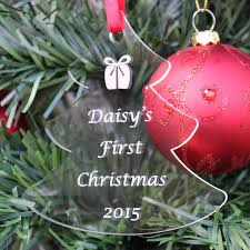 personalised baby child first christmas tree decoration bauble