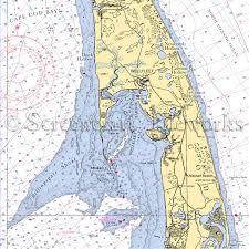 Massachusetts Wellfleet Nautical Chart Decor