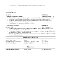 Door Attendant Sample Resume Ideas Collection Door Attendant