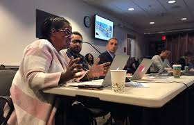 robin harris prinl of fletcher maynard academy tells a tuesday roundtable of the school committee how her school uses two extra hours a day