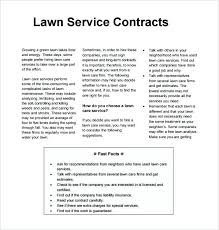 Free Lawn Mowing Bid Template Care Sheet Elegant Best Templates ...
