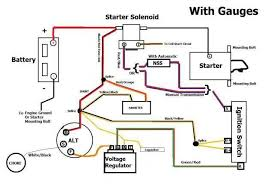 good alternator battery volt reg what s wrong page 2 here s a diagram i made that has the ammeter wiring into it