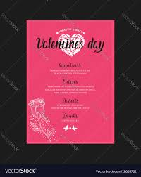 dinner template menu template for valentine day dinner