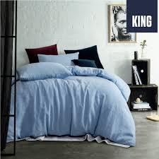 sing com sg vintage wash linen vintage washed chambray yarn dyed 100 linen quilt cover set king bed