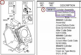 how to part numbers for engine replacement parts briggs engine replacement part numbers