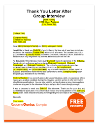 Interview Letters Samples After Interview Thank You Letters Samples Free Ms Word