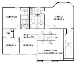4 bedroom floor plans. BLACK HORSE RANCH FLOOR PLAN KB Home Model 2886 Upstairs 4 Bedroom Floor Plans