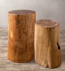 Tree stump furniture Ash Fitnevolving Fir Tree Trunk Stools Accent Tables Furniture Vivaterra