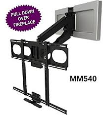 pull down tv mount. MantelMount MM540 - Above Fireplace Pull Down TV Mount Tv