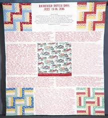 Dutch Days name quilt | News, Sports, Jobs - The Sentinel & Submitted photo The theme of the 2016 Richfield Dutch Days Name Quilt, to  be auctioned Adamdwight.com