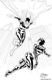Coloriage Batgirl Catwoman Cherchent Wonder Woman Dessin