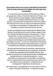 la haine a model essay to what extent does originality play a la haine a2 model essay to what extent does originality play a role in the film s success by paul 1982 teaching resources tes