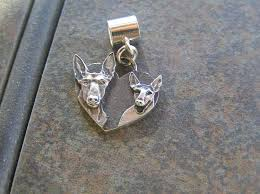 Dog Design Jewelry Podenco Heart Sterling Silver Charm 1