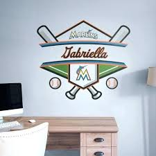 marlins personalized name giant transfer decal fathead lacrosse wall decals canada lax love graffiti removable