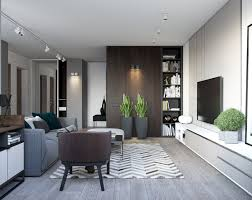 Dark Furniture Interior Design Spacious Looking One Bedroom Apartment With Dark Wood Accents