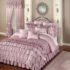 blue ruffle comforter frilly bedding ruffle bedding