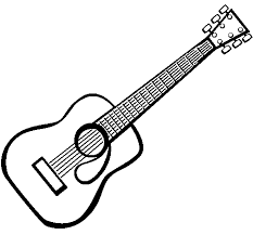 spanish guitar ii coloring page