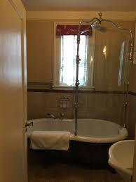 abigail s hotel clawfoot tub with rain shower shower head