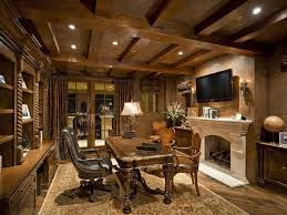 luxurious home office. Impressive Home Office Ideas With Ceiling Lamps And Illuminating Classic Desk Also Arm Chairs Between Bookshelves Fireplacejpg Luxurious B