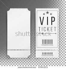 Invitation Ticket Template Ticket Template Set Vector Invitation Coupon Stock Vector 100 97