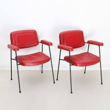pair of cm197 arm chairs by pierre paulin for thonet 1950s