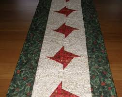 quilted table runner red green table runner